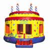 Casa de salto do salto do castelo do bolo de aniversário para o jogo dos miúdos