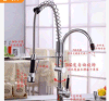 2015熱いSale Kitchen Faucets All Copper HotおよびCold導自由なPumping Type Kitchen Faucet Basin Spring Faucet Rotating Double Outlet