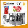 回転式トマト・ケチャップのパッキング機械