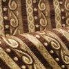 Brown Style Chenille Stripe Fabric per Sofa Cover (FTH31404)