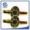 Оптовый зажим связи золота металла с изготовленный на заказ логосом