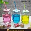 vaso di muratore di vetro 16oz con la maniglia per spremuta bevente