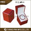 Sola caja de madera de lujo personalizada venta al por mayor de la devanadera del reloj de la seguridad