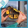 Comercio al por mayor publicidad adhesiva personalizada etiqueta ventana circular amarillo