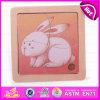 2015 Madeira 2D de alta qualidade quebra-cabeças de animais, barato preço brinquedo quebra-cabeças em 2D em madeira, um design mais pequeno coelho adorável Kid brinquedo quebra-cabeças de madeira 2D W14C163