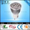 Dimmable 4X3w 110-240V refroidissent le projecteur blanc de GU10 LED