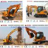 mini máquina escavadora da cubeta 0.3m3 com 8 toneladas para a venda