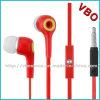 Écouteurs de câble plat de qualité avec la MIC pour le téléphone mobile intelligent