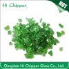Virutas machacadas del vidrio verde