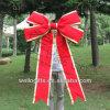 거대한 크리스마스 빨간 우단 리본 활