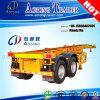 2 de Aanhangwagen van de Container van assen, de Skeletachtige Semi Aanhangwagen van de Chassis van de Container