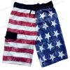 Miss Adola Fashion American Flag Printing Men Beach Short Pants (4044)