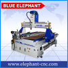 Machines universelles 1122 de gravure du bois de commande numérique par ordinateur d'éléphant de commande numérique par ordinateur de catalogue des prix bleu de machine avec le dispositif rotatoire sur la surface de Tableau