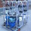 Cows/Goats/Sheepのための4つのバケツMobile Milking Machine