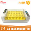 Hhd mejor precio comercial Mini 24 huevo de gallina incubadora Yz-24A