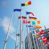 Флаг Поляк высокопоставленной напольной нержавеющей стали конический электрический