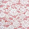 Шнурок белого флористического Allover обруча цвета слоновой кости картины для платьев венчания, одежд, украшения партии