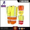 Veste reflexiva vermelha da roupa da segurança para trabalhar En20471
