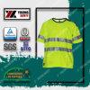 Veste fluorescente reflexiva de trabalho Railway da segurança do algodão do poliéster En20471