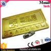 Étiquette brillante en métal de grand dos d'or pour des meubles