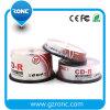 CD-R stampabili 700MB 52X 80min del getto di inchiostro bianco del fronte pieno