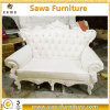 Sofá europeo del cuero de la sala de estar de los muebles del hogar del estilo