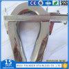 En acier inoxydable Ss304 ou Ss316 EU Wire Rope Thimble