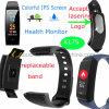 Braccialetto astuto del silicone di Bluetooth dell'inseguitore di forma fisica con il video K17s di frequenza cardiaca