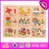 Puzzle de Matemática do Ensino pré-escolar pequenos números de madeira, as crianças de madeira forma Puzzle Math Toy, best-seller brinquedo quebra-cabeças de madeira W14b060
