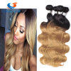 Venda por grosso de onda do Corpo de cabelo Virgem Brazalian 100% de cabelo humano da trama