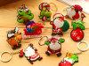 Noël Santa, cerf commun, ornement Keychain de bonhomme de neige