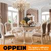 의자 Ot-0314065를 가진 호화스러운 Brich 단단한 나무 가구 식당 테이블