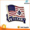 Нам флаг эмаль масонские ветеран Металлический бейдж