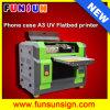 Impresora plana ULTRAVIOLETA de la etiqueta del color A3 para la caja del teléfono de la impresión