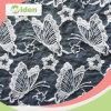 Tela africana do laço do bordado da pestana de Organza da tela do laço da borboleta