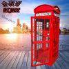 イギリスの公衆電話ボックスブースイギリス様式の公衆電話ボックスのカスタマイズされた公衆電話ボックス