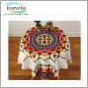Preço barato e pano fino da mesa redonda de teste padrão de flor