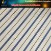 Tela de matéria têxtil tingida azul do forro da planície da listra do fio de poliéster dos homens (S101.118)