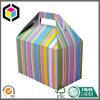 Caixa portátil de empacotamento de papel impressa cor do cartão do frontão