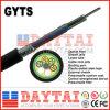 1500n resistência à tracção GYTS Fibra óptica exterior do cabo da antena