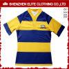 Camicia poco costosa all'ingrosso di rugby del poliestere di sublimazione del professionista di randello (ELTRJJ-154)