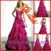 Heißer trägerloser Exquiste Taft a - Linie Brautjunfer kleidet das Abend-Abschlussball-Partei-Kleid-Hochzeits-Kleid, das durch Gillis Bridal Co., Ltd. 3376 verkauft wird