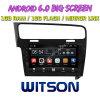 Witson gran pantalla de 10,2 de Android 6.0 alquiler de DVD para Volkswagen Golf 7 (marco negro)
