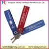 Kundenspezifisches Firmenzeichen druckte Stickerei-Firmenzeichen-Wollen geglaubte Schlüsselkette