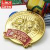Покрынное золотом медаль металла влияния 3D пластичное золотистое