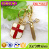 2016 modo Metal Cross e Sheild Gold Hoop Earrings