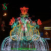 豪華で大きい正方形のSteertの装飾のクリスマスの照明