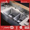 Bassin fabriqué à la main, bassin de ferme, bassin de cuisine fabriqué à la main d'acier inoxydable, bassin d'acier inoxydable, bassin de cuisine, bassins