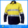 Groothandel Werkuniform Two Tone reflecterende tape Hi Vis Shirt