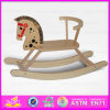 2015 Quality excelente Kids Wooden Toy Rocking Horse, Wooden Children Ride en Animal Toy, Funny Plush Rocking Horse Toy Wj278584